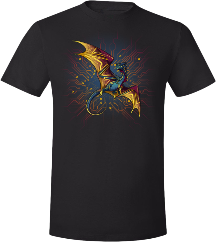 Circuitboard Nocturne Tee (Unisex) from Flight Rising - Webcomic Merchandise