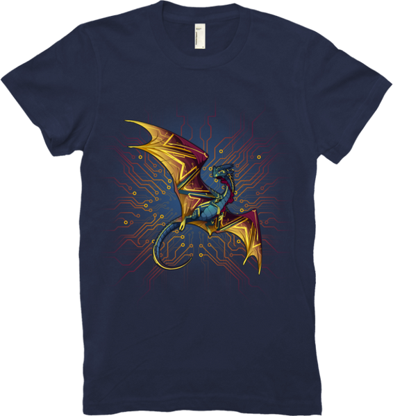 Circuitboard Nocturne Tee (Women's) from Flight Rising - Webcomic Merchandise