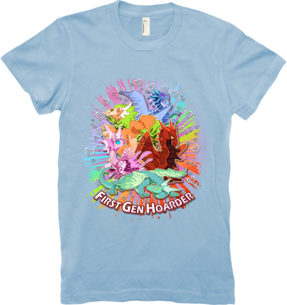 First Generation Hoarder Tee (Women's) from Flight Rising - Webcomic Merchandise