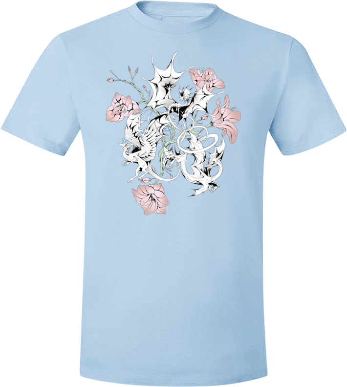 Halftone Lilies Tee (Unisex) from Flight Rising - Webcomic Merchandise