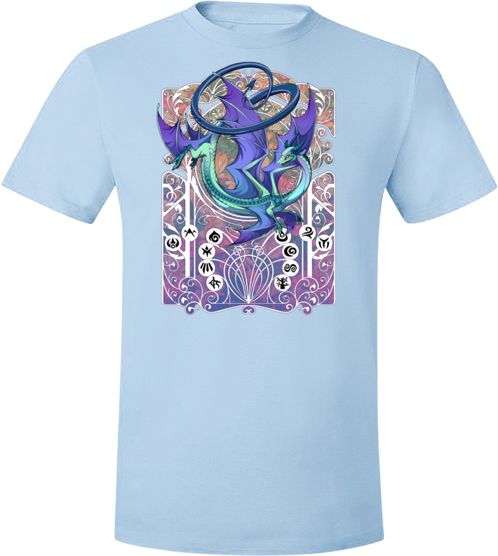 Spiral Nouveau Tee (Unisex) from Flight Rising - Webcomic Merchandise