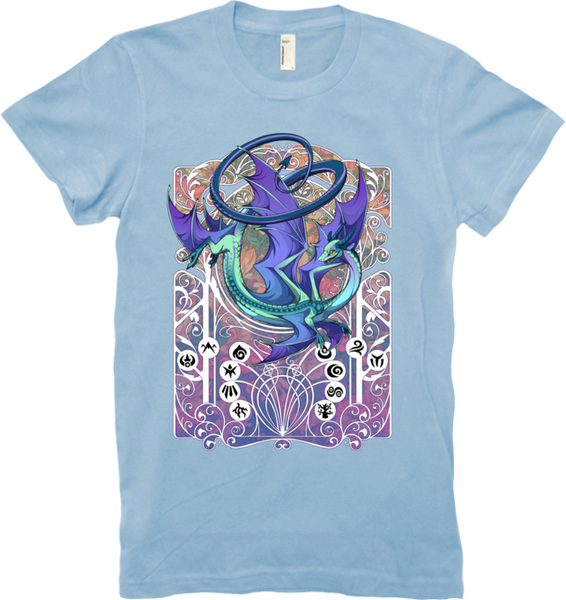 Spiral Nouveau Tee (Women's) from Flight Rising - Webcomic Merchandise