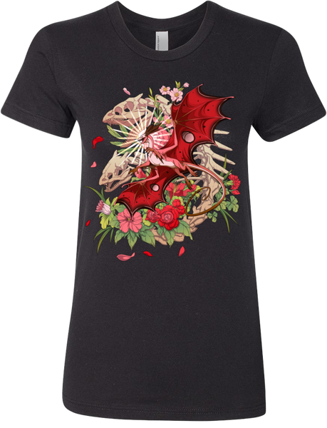 Skeletal Mirror Tee (Women's) from Flight Rising - Webcomic Merchandise