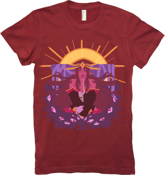 Death, Medium, Star Tee Women's from Ghost Junk Sickness - Webcomic Merchandise