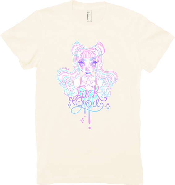 Pastel Fuck You Tee (Women's) from Gunkiss - Webcomic Merchandise