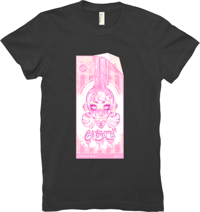 Strawberry Milk Tee (Pink/Purple) (Women's) from Gunkiss - Webcomic Merchandise