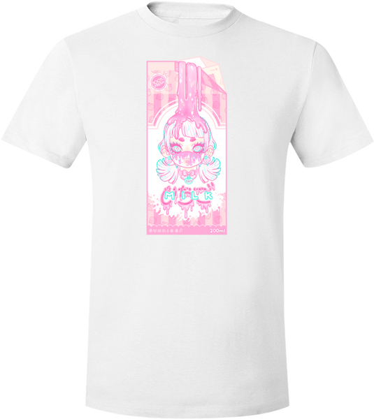 Strawberry Milk Tee (Green/Pink) (Unisex)