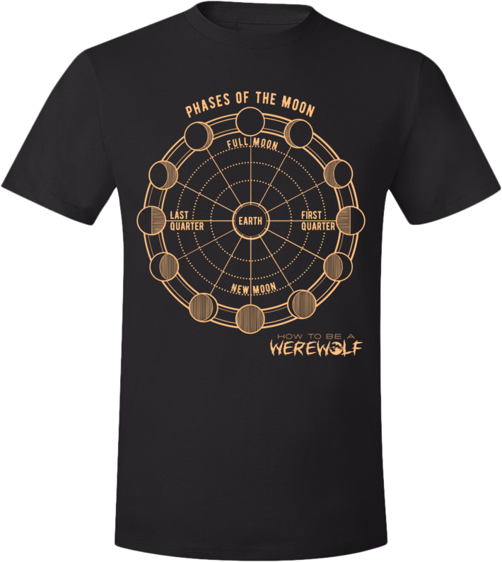 Phases of the Moon T-Shirt (Unisex, Dark)