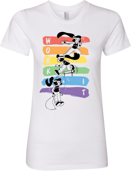 Work It! Rainbow Tee (Women's) from Tove - Webcomic Merchandise