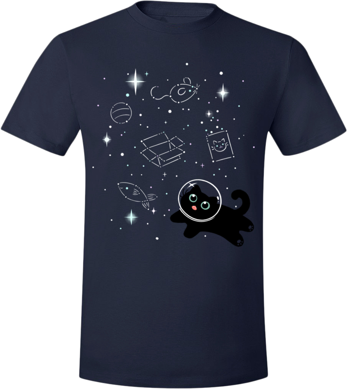 Catstronaut Tee from The Weave - Webcomic Merchandise
