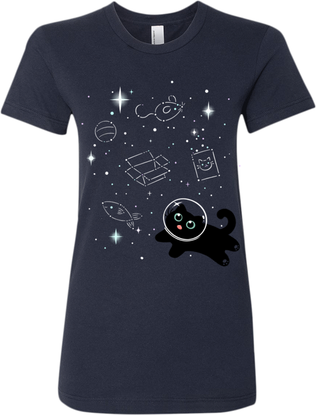 Catstronaut Tee (Women's) from The Weave - Webcomic Merchandise