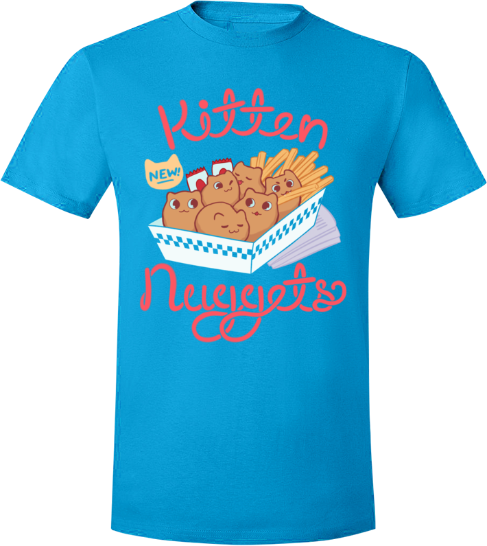 Kitten Nuggets Tee from The Weave - Webcomic Merchandise