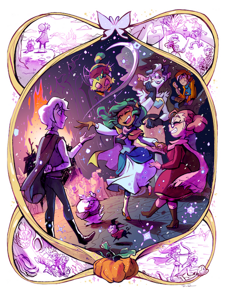 Harpy Gee - Winter Bonfire print from Harpy Gee - Webcomic Merchandise