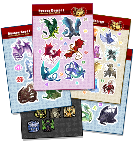 Flight Rising Sticker Sheet Bundle from Flight Rising - Webcomic Merchandise