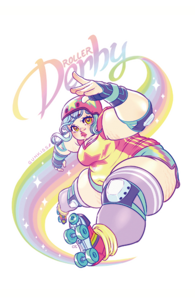 Roller Derby Bomba Print from Gunkiss - Webcomic Merchandise