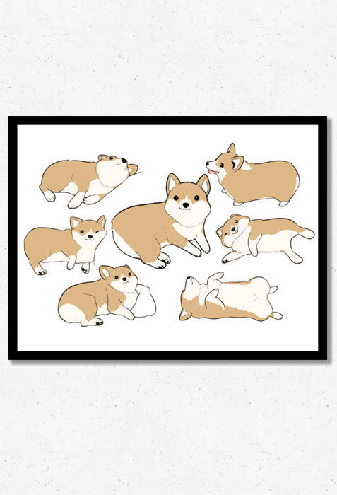 Corgi Time Poster from Mary Cagle - Webcomic Merchandise