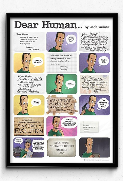 SMBC - Dear Human Poster from SMBC - Webcomic Merchandise