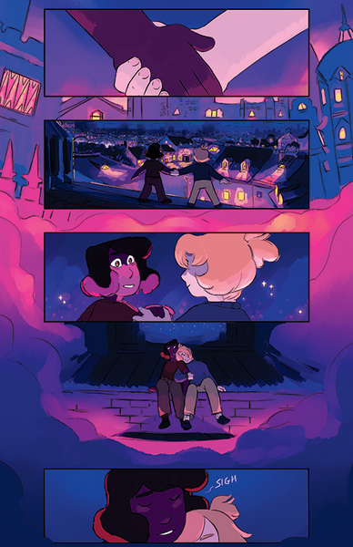 Demon Street - Rooftops Page Print from Demon Street - Webcomic Merchandise