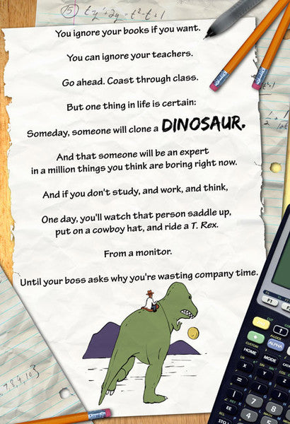 SMBC - Dino Education Poster from SMBC - Webcomic Merchandise