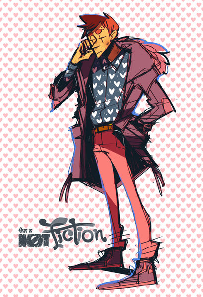 THIS IS NOT FICTION - I Heart Landon print from This Is Not Fiction - Webcomic Merchandise