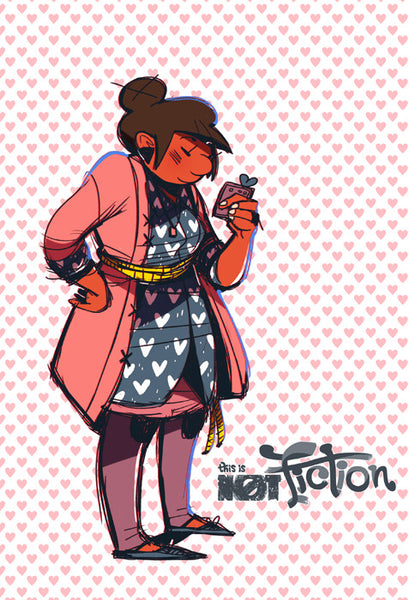 THIS IS NOT FICTION - I Heart Selby print from This Is Not Fiction - Webcomic Merchandise