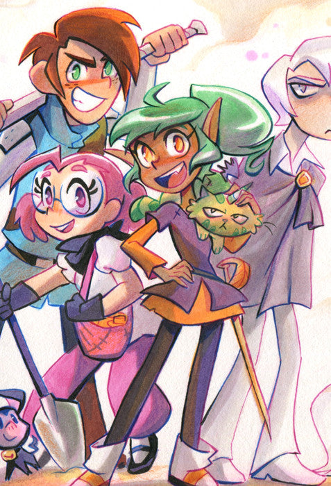 Harpy Gee - Podunkello Punks print from Harpy Gee - Webcomic Merchandise