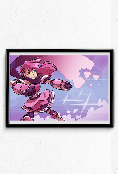 Heartful Punch Print from Sleepless Domain - Webcomic Merchandise