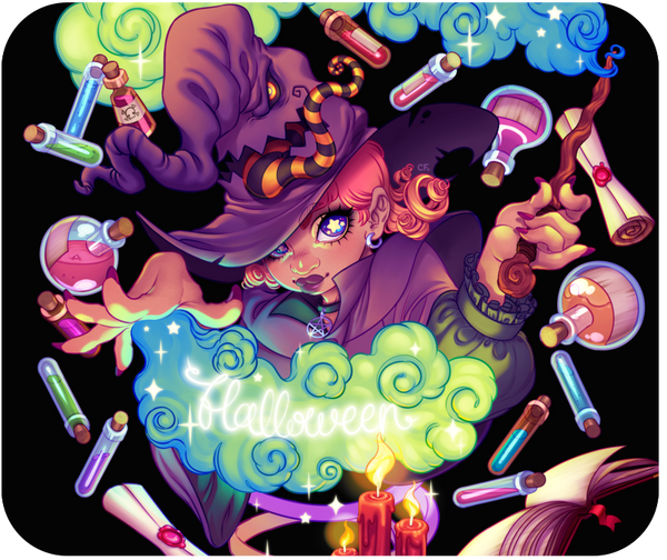 Enchanting Halloween Mousepad from Special Items - Webcomic Merchandise