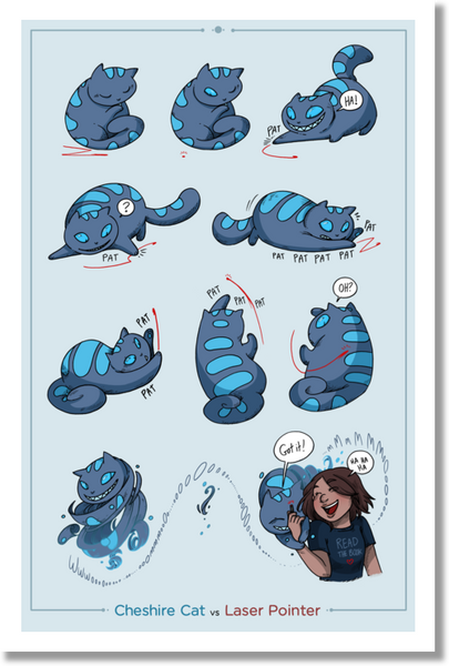 Namesake - Cheshire cat laser pointer print from Namesake - Webcomic Merchandise