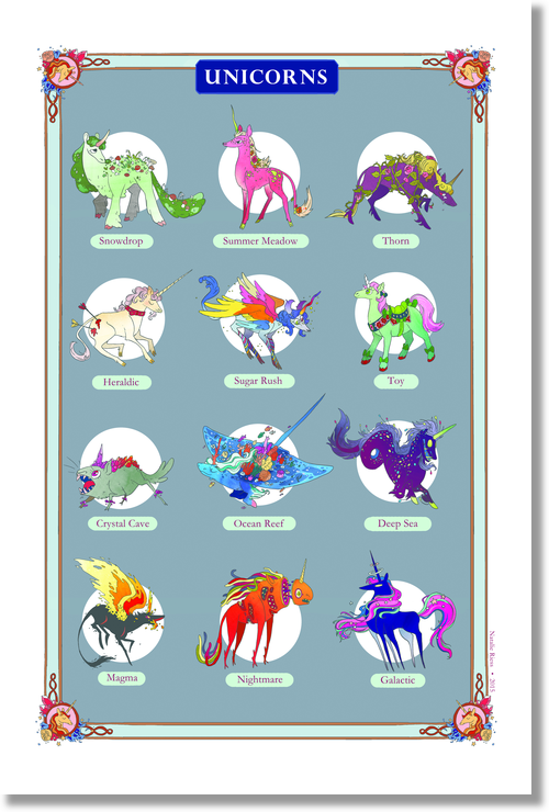 Snarlbear - Unicorn Print from Snarlbear - Webcomic Merchandise