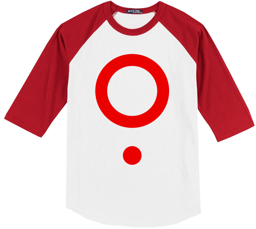The Boy Who Fell - Hell Kitchen Raglan in Red from The Boy Who Fell - Webcomic Merchandise