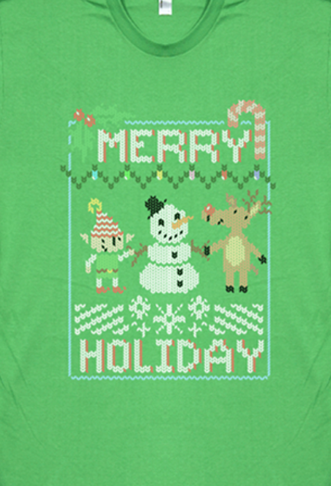 Merry Holiday Sweater Shirt from SMBC - Webcomic Merchandise