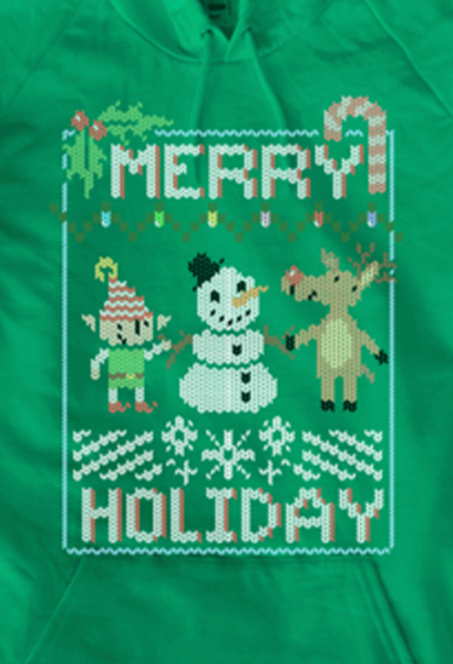 Merry Holiday Sweater Hoodie from SMBC - Webcomic Merchandise