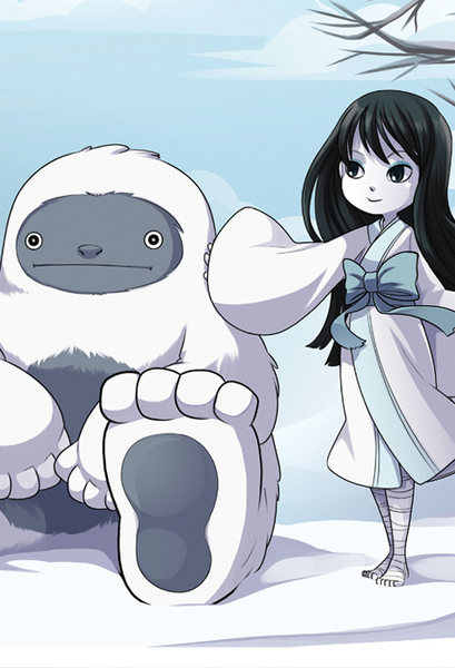 Cryptids and Kids - Yuki Onna and Sasquatch print from Cryptids and Kids - Webcomic Merchandise