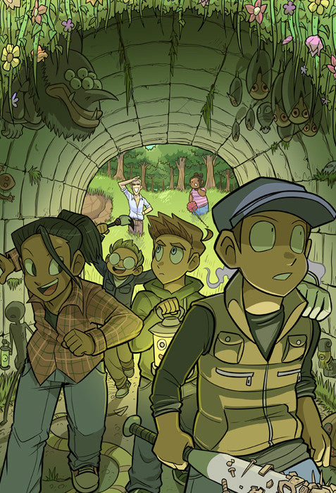 Paranatural - Forest Tunnel print from Paranatural - Webcomic Merchandise