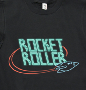 Rocket Roller Band Shirt from Rock Cocks - Webcomic Merchandise