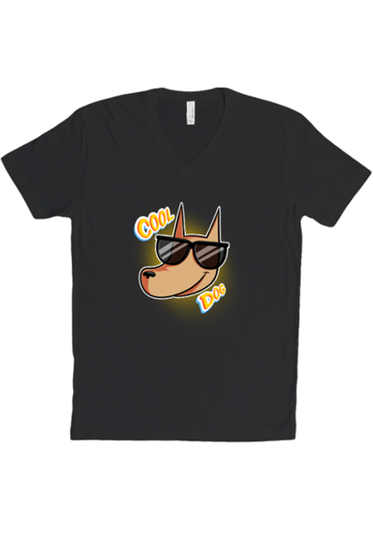 Cool Dog V-Neck T-shirt from A Ghost Story - Webcomic Merchandise