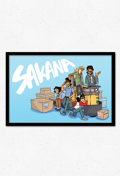 Turret Cart Poster from Sakana - Webcomic Merchandise