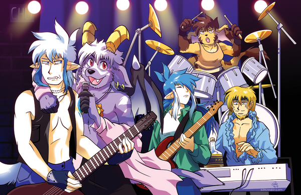 Rock Band Print from Slightly Damned - Webcomic Merchandise