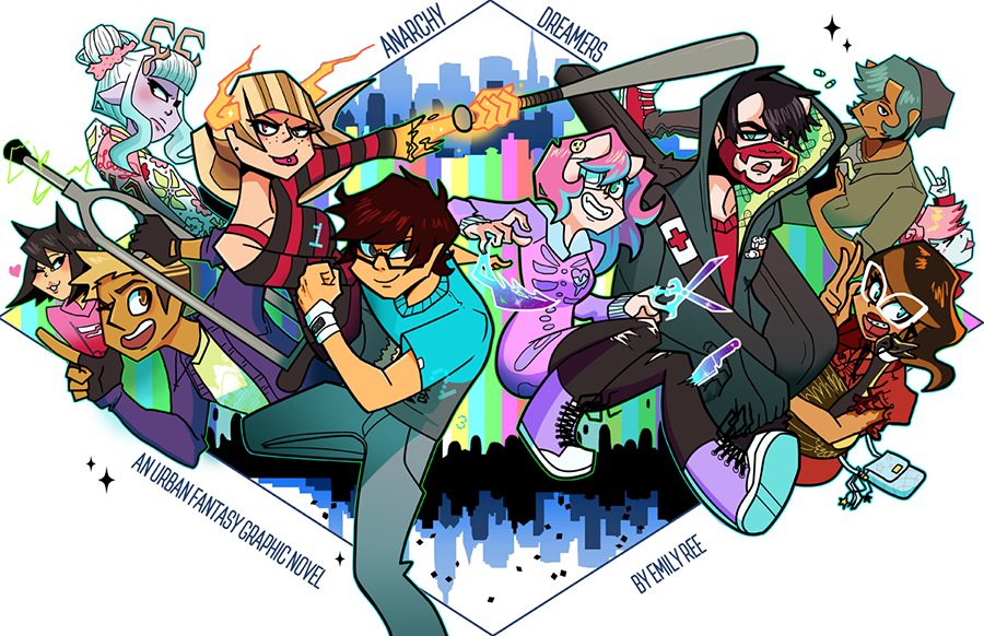 Fighting Dreamers! Print from Anarchy Dreamers - Webcomic Merchandise