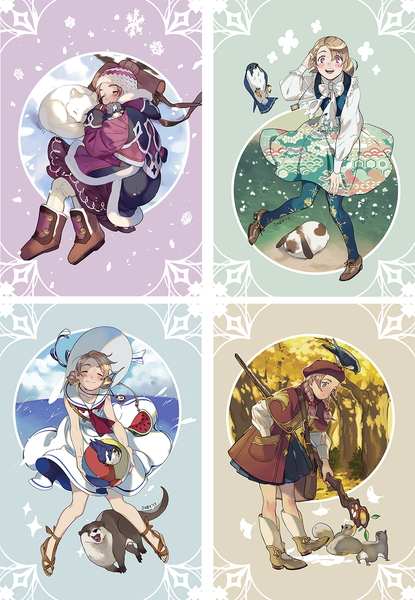 Cut Time Seasons Postcard Set from Cut Time - Webcomic Merchandise