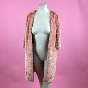 Pink Fuzzy Teddy Coat