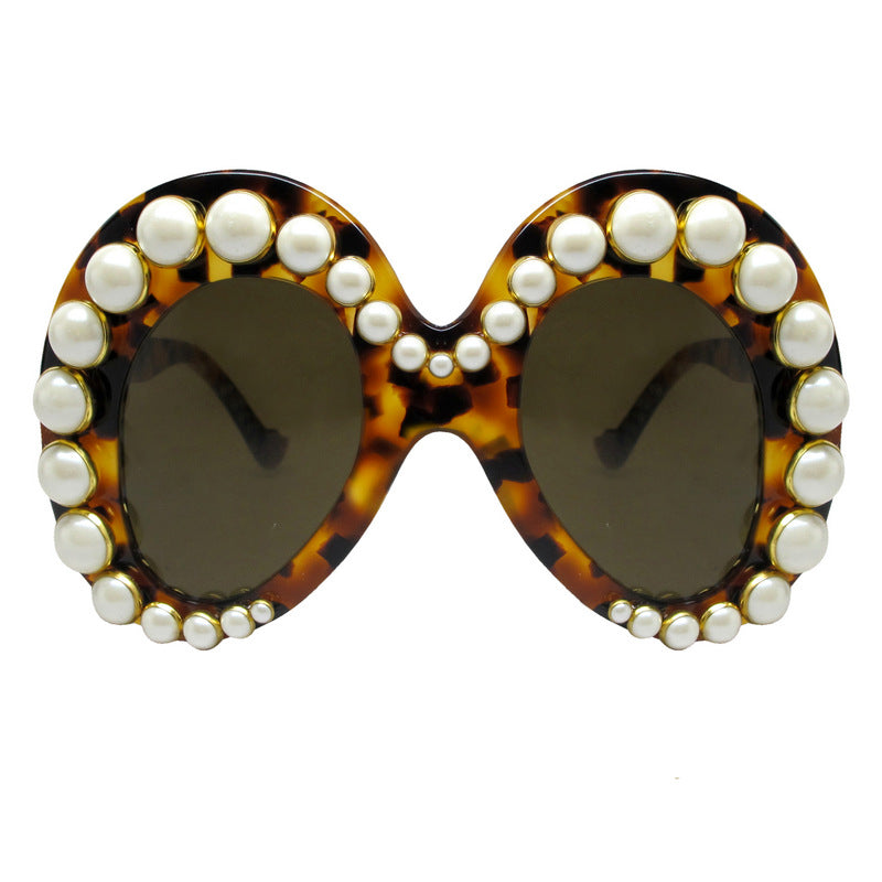 A-Morir Eyewear - Thorton Oversized Pearl Frame in Black