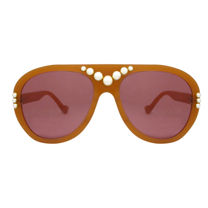 A-Morir Eyewear - Starkey Honey Aviator With Gold Mirror Lenses