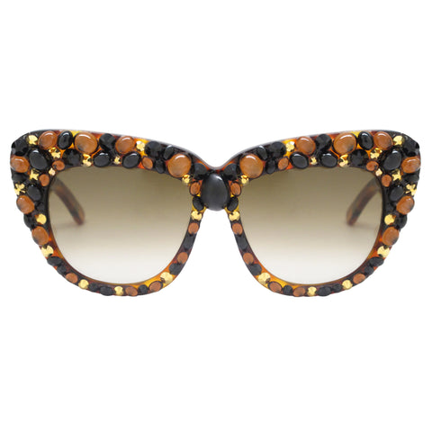 Adams embellished square sunnies