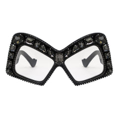 A-Morir Eyewear Diana Black Frame with Clear Lenses