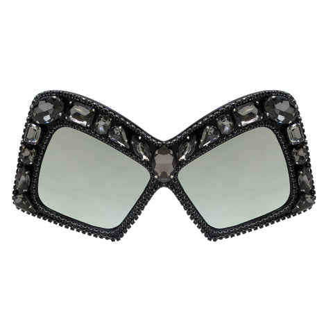 A-Morir Eyewear Diana Black Frame with Silver Mirror