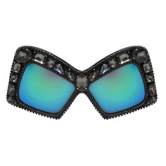 A-Morir Eyewear Diana Black Frame with Green Purple Mirror