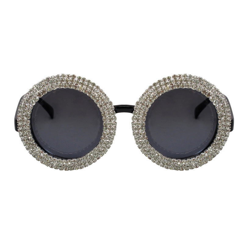 A-Morir Eyewear - Gibb Round Eyewear With Metal Set Crystal Embellishment