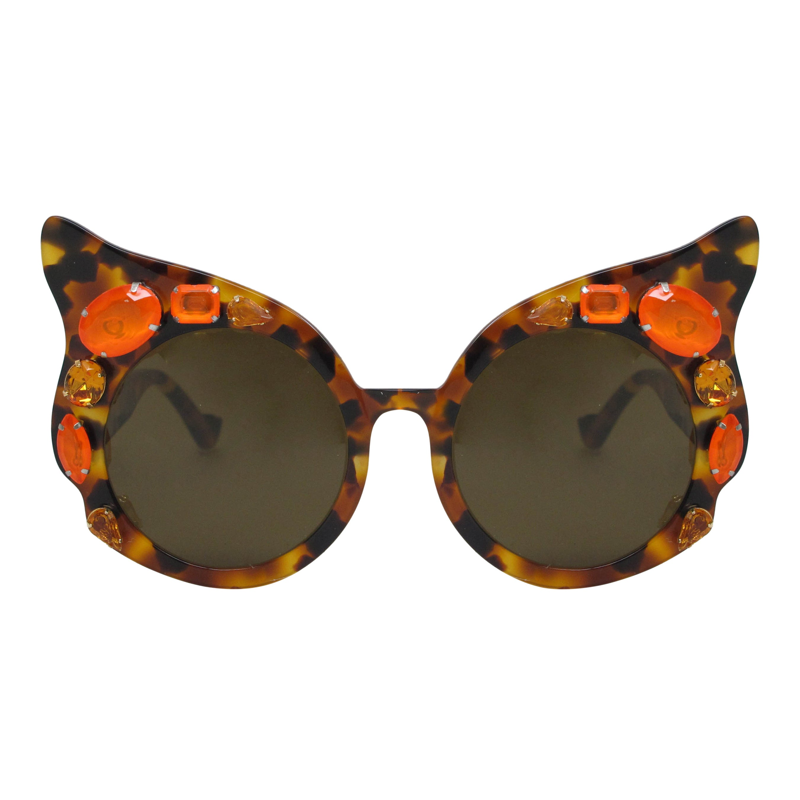 A-Morir Mary Flame Gem Cat Eye In Orange Tortoise